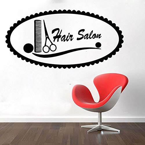 Venster Glas Deur Vinyl Sticker Schoonheid Salon Kapsel Stijl Haar Waterdichte Decoratie DIY 84X42cm