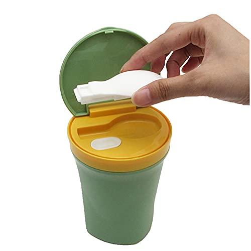 450 Ml Termo para Comida con Cuchara Caja De Plástico Sellada Portátil...