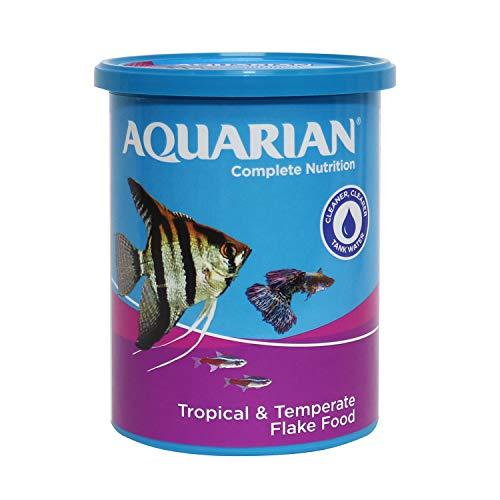 AQUARIAN Complete Nutrition, Aquarium Tropical Fish Food Flakes, 100 g Container