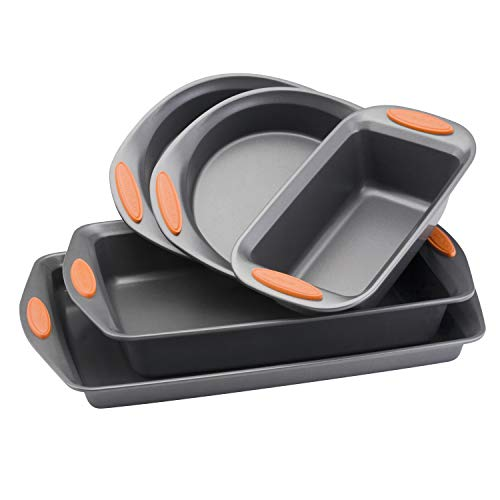 Rachael Ray 55673 Nonstick Bakeware Set with Grips...