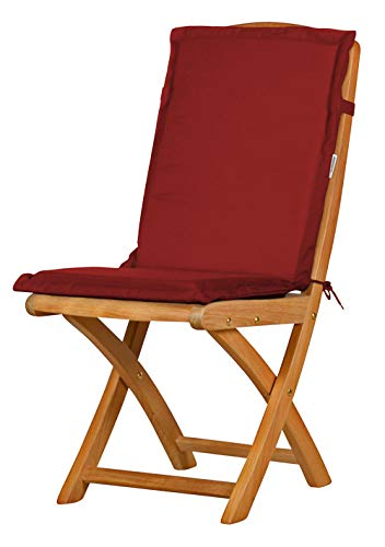 Auflage für Gartenstuhl mit Rücken, rot, dralon, waschbar ✓ Made in Germany ✓