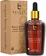Organic Face Oil - Balance & Restore Facial Oil, Best for Oily, Acne Prone or Problematic Skin, Hydrating Oil for Face Helps Skin Look Balanced, Plump and Youthful