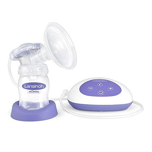 Lansinoh Elektrische Milchpumpe, Einzelmilchpumpe, Pumpenset ComfortFit-Aufsatz, 6 Stufen