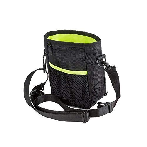 Samine Bolsa de entrenamiento para perros con dispensador de bolsa de excrementos para mascotas, perros, aperitivos, comida grande para viajes y entrenamiento