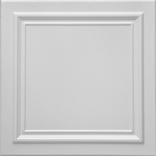 RM-24 Polystyrene (Styrofoam) Ceiling Tile to Cover Popcorn (Pack of 96 Tiles).Easy paintable. Easy DIY Glue up Application on Any Flat Surface or Popcorn Ceiling. Decorative Ceiling Panels. Classic.