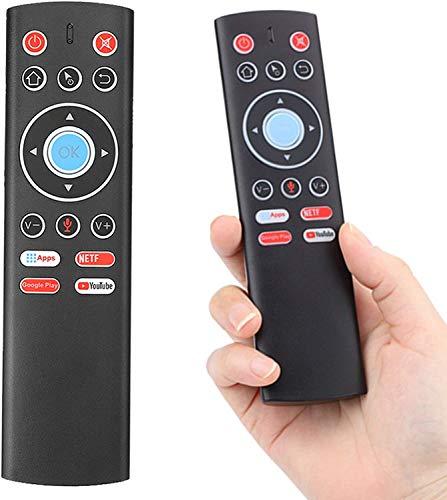 LiuliuBull L Control Remote Air Mouse Mini Teclado Control inalámbrico con función de Aprendizaje IR de Mic para la Caja de TV de Android