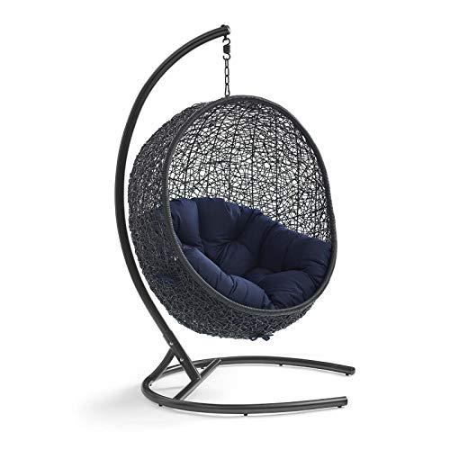 Modway Wicker Rattan Outdoor Egg Swing Chair