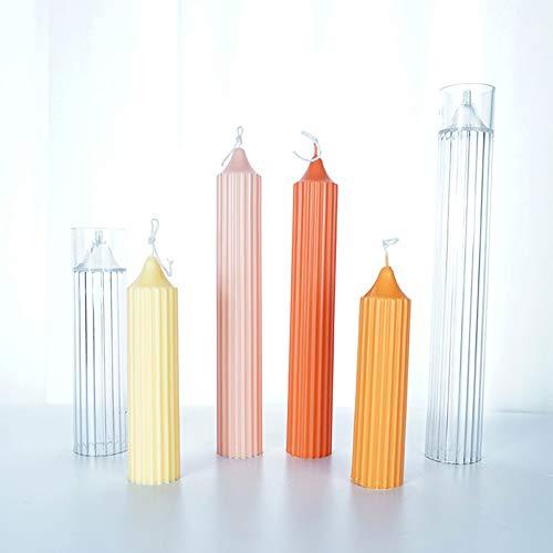 Kerzenform Aus Kunststoff Kerzenform Zum Gießen Set,Silikon Kunststoff, 3D Kerzen-Gießform DIY Handgemacht Aromatherapie Kerzenform Für Kerzen Machen (L-3.5x25cm)