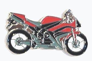Spilla in metallo smaltato per moto da strada (rosso)