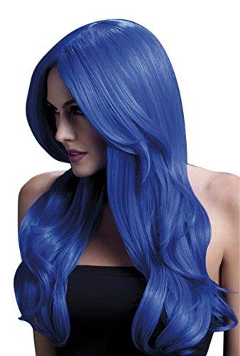 Mesdames Long néon bleue fièvre Khloe perruque