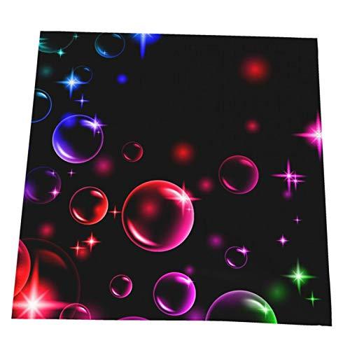 2 servilletas de 20 x 20 en 3d coloridas burbujas con estrellas lavables ultra suaves y duraderas servilletas de cena para bodas, fiestas, cenas y más