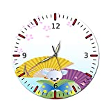 AMGSWAZ Silent Wall Clock Battery Operated Decorative Wall Clocks, Modern Style for Living Room Bathroom Kitchen School Office 28cm