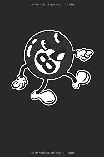 Billardkugel Cartoon: 8Ball Billard Kugel Billardspieler Geschenke Notizbuch Punktraster punktiert (A5 Format, 15,24 x 22,86 cm, 120 Seiten)