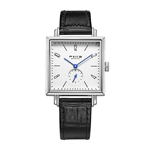 Feice women's sapphire crystal minimalist watch classic bauhaus watch...