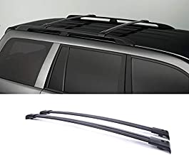 ZR for 2003-2008 Honda Pilot with Roof Side Rails Blk Aircraft Aluminum Mount Onto the Rooftop Rack Cross Bars Top Rail Luggage Cargo Carrier + Mounting Hardwares
