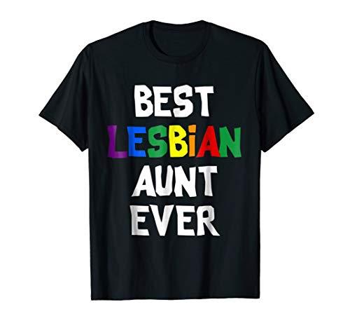 Best lesbian aunt ever lgbt gay T Shirt