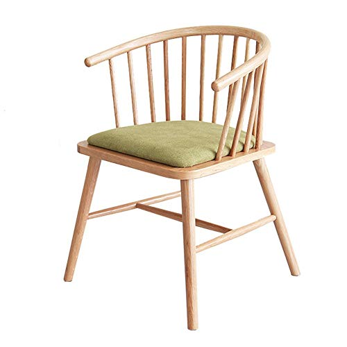 Nordic Solid Wood Dining Chair White Oak Designer Coffee Chair Retro Ming Style Princess Windsor Circle Chair