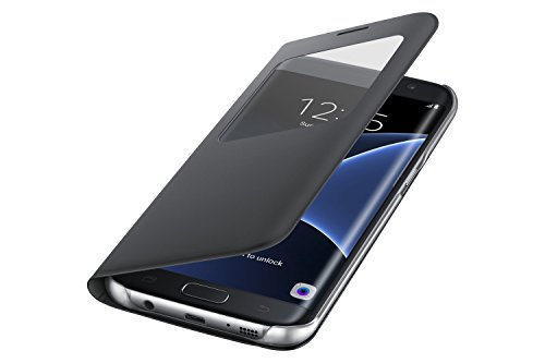 Samsung BT-EFCG935PBEG S View Cover Galaxy S7 Edge, Nero