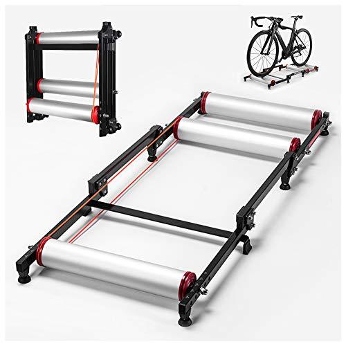 TANCEQI Rodillos para Bicicletas Plegable De Interior Entrenador MTB Carretera Estación De Ejercicio Entrenamiento