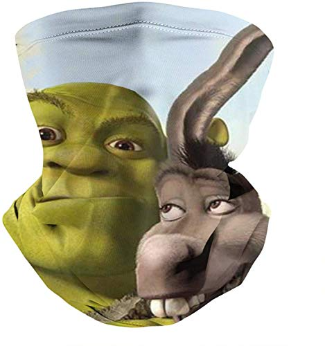 Cute Outdoor Unisex Balaclava Bandana Face Mask Shrek-Donkey-Smile-Game- Magic Neck Gaiter Scarf