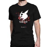 Akame Ga Kill Night RaidメンズファッションTシャツ、ブラック