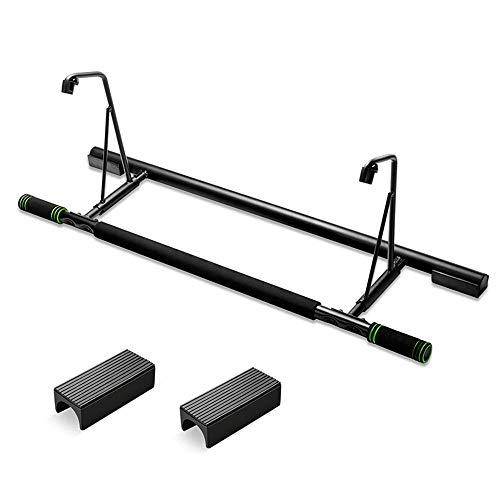 NgMik Pull-ups Pull-Up-Bar Premium-Doorway Klimmzugstange - Keine Schrauben, Keine Installation Startseite Fitness-Turm (Color : Black, Size : 90x24x30.5CM)