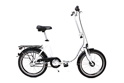 20 Zoll Faltrad Folding Bike 3 Gang Shimano Klapp Fahrrad Nabendynamo Rücktritt 41cm Weiss
