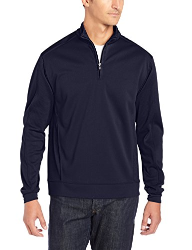 Cutter & Buck Men's CB Drytec Edge Half Zip, Solid Navy Blue, X-Large