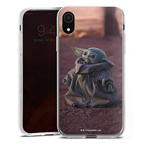 DeinDesign Silikon Hülle kompatibel mit Apple iPhone Xr Hülle transparent Handyhülle Star Wars The Child Baby Yoda
