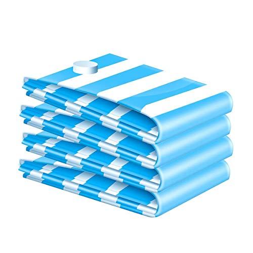 Haude Paquete de 4 bolsas de almacenamiento de vacío, reutilizables, para uso doméstico y viajes, adecuadas para ropa, colchas, mantas, almohadas (S)