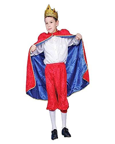 Dress Up America Costume de roi royal rouge de luxe pour les enfants