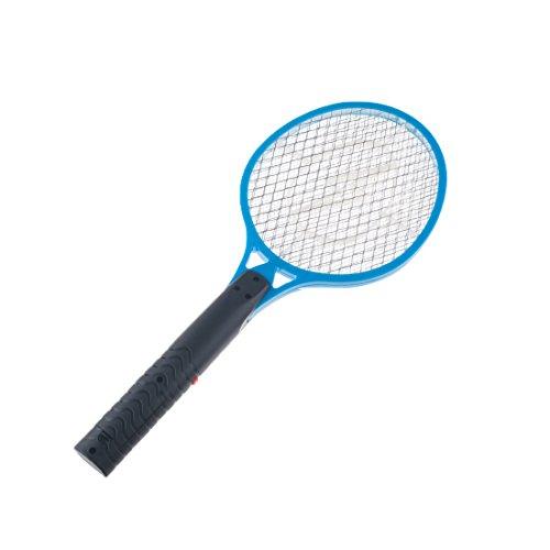 Andux Zone Matamoscas Eléctrico Raqueta Mosquitos para Mosquitos, Moscas, Avispas, Abejorros y Otros Insectos Voladores JJ-DWP01 (Azul)
