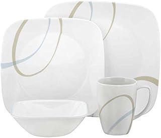 Corelle Vitrelle Glass Sand and Sky Dinnerware Set - 16 Pieces