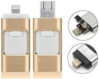 USB i Flash Drive U Disk ذاكرة تخزين ل iPhone Ipad Mac Android Phone PC 8GB 16GB 32GB 64GB 128GB (ذهبي 64GB)
