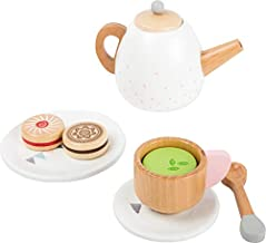 small foot wooden toys Play Tea Party 17 Piece Set Designed for Children Ages 3+ Years, Multicolour (11214)