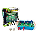 ErYao Tabletop Foosball Table- Portable Mini Soccer Game Set- Classic Mini Table Top Foosball, 25x27x5cm (A)
