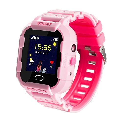 DCU TECNOLOGIC | Reloj Inteligente niños | Smarwatch para niños | Llamadas 2G | Tecnología GPRS+LBS+WiFi | A Prueba de Golpes | IP67 | Rosa