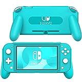 MoKo Funda con Asa Compatible con Nintendo Switch Lite, Accesorio de Mango Rellenos Integrados de Diseño Ergonómico Durable Cómodo para Nintendo Switch Lite y Joystick - Turquesa