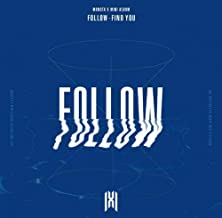 MONSTA X FOLLOW-FIND YOU Album 4Ver SET [1+2+3+4] 4CD+4p FOLDED POSTER+4ea Book+4ea Group Poster(On pack)+4ea Lyrics Book+...