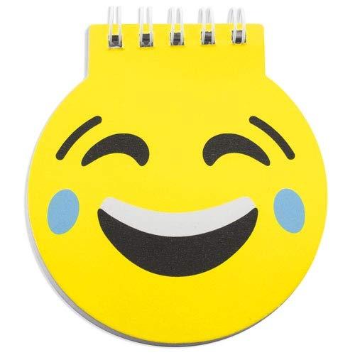 Lote de 50 Libretas Infantiles Emoticonos - Libretas Originales Emojis, Diseño Divertido Regalos prácticos para niños colegios, cumpleaños, Bodas y comuniones