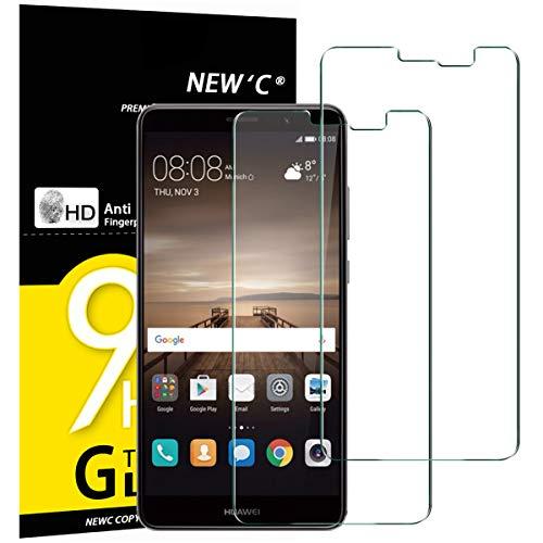NEW'C 2 Stück, Schutzfolie Panzerglas für Huawei Mate 9, Frei von Kratzern, 9H Festigkeit, HD Bildschirmschutzfolie, 0.33mm Ultra-klar, Ultrawiderstandsfähig