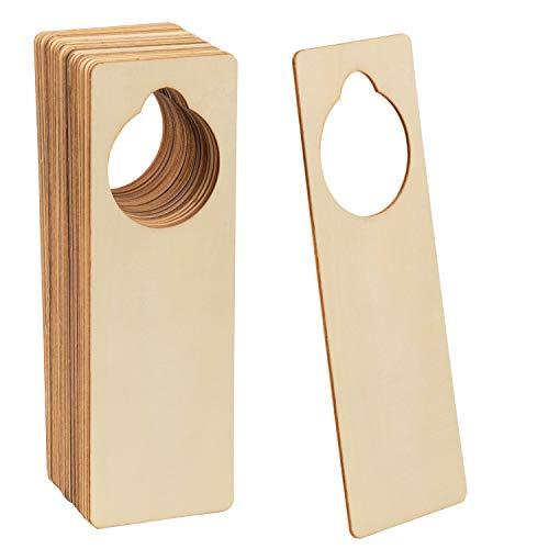 Juvale Unfinished Wooden Door Knob Hangers (9.6 x 3.25 in, 24-Pack)