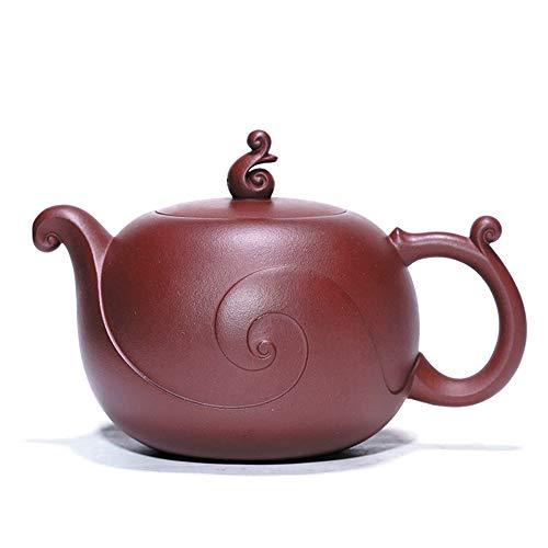 GYZD Tetera de Arcilla Morada Tea Pot China Yixing Dragon Color Purple Sand West Beauty Pot Make Loose Tea Home Tea Set