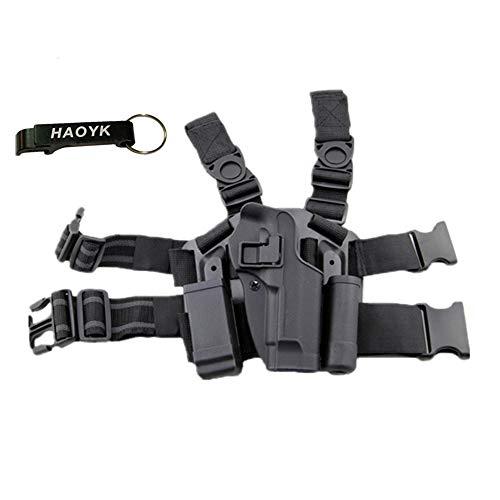 JOYASUS Einstellbare Tactical Airsoft Pistol Drop Bein Holster Tasche Oberschenkel Rechten Bein Holster mit Magazin Taschenlampe Beutel für M9 M92