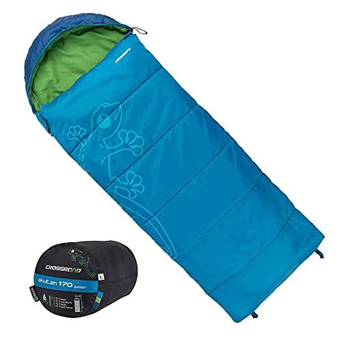 Crossroad Akutan Kinder Schlafsack 170cm - Deckenschlafsack Junior - wasserabweisend - blau - Jungenschlafsack für Camping - Sommerschlafsack
