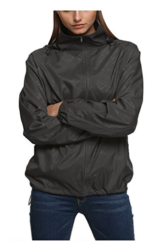 Zeagoo New fashion Waterproof Climbing Running Outdoor Hoodie Coat Sport Cycling Jacket,Small,Gray