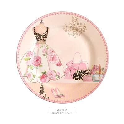 Vajilla Cuencos Tazones De Consomé Plato de porcelana de hueso Plato de cerámica para el hogar Plato de carne de 8 pulgadas Cubiertos Plato de fruta El mejor regalo
