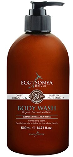 E-Cotan Organic Coconut and Mint Body Wash, Tan Extending