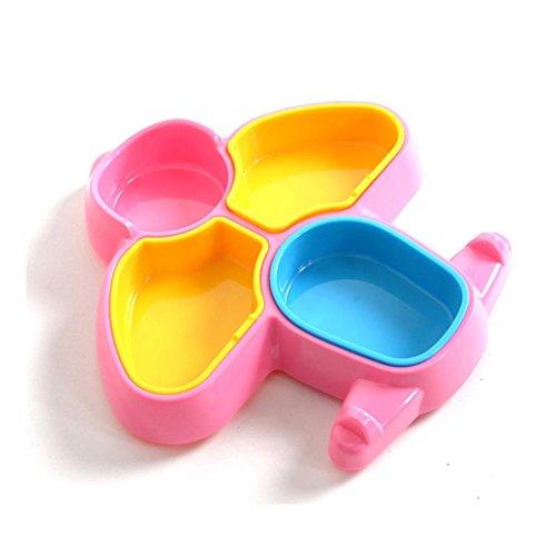 KQS-XYT Assiette pour enfants, sous-grille Générateur de modélisme créatif Plaque créative Matériau ABS Petite plaque plane , Pink