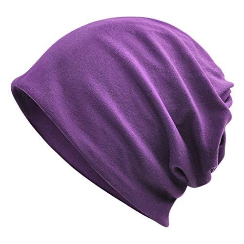 Goddness Bar Bonnet de Sommeil élégant Beanie Hat Scarf Casquette Polyvalente pour Le Plein air, Le Cyclisme, Les Cheveux crépus (A24)